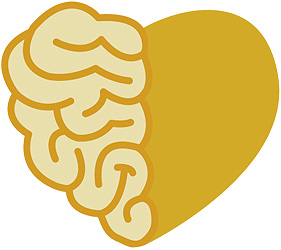 an image of a heart that is half heart and half brain shaped like a heart. :!)